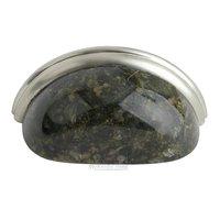"Home Adorned - Granite Pulls - 3"" Centers Cup Pull in Uba Tuba Granite"