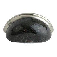 "Home Adorned - Granite Pulls - 3"" Centers Cup Pull in Black Galaxy Granite"