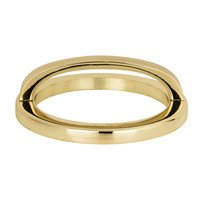 "Atlas Homewares - Tableau - 3"" Centers Round Base In French Gold With Curved Handle In French Gold"