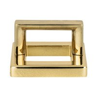 "Atlas Homewares - Tableau - 1 7/16"" Centers Square Base In French Gold With Squared Handle In French Gold"