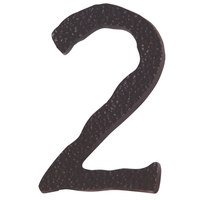 Atlas Homewares - House Numbers Hammered - # 2 House Number in Oil Rubbed Bronze