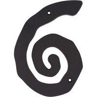 Atlas Homewares - House Numbers Scroll - # 6 House Number in Black