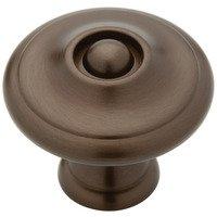 "Liberty Hardware - Avante - Oil Rubbed Bronze - 1 3/16"" (30mm) Diameter Solid Brass Knob in Rubbed Bronze"