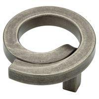 "Liberty Hardware - Avante - Iron Craft - Knob Swirl 2"" Diameter Steel Pewter"