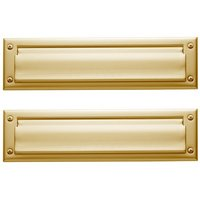 Baldwin Hardware - Estate Door Accessories - Package Size Mail Slot in Satin Nickel