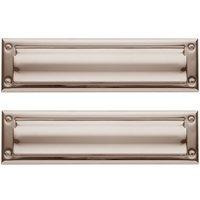 Baldwin Hardware - Estate Door Accessories - Package Size Mail Slot in Satin Nickel