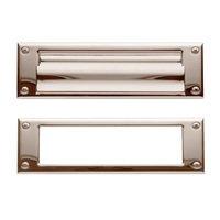 Baldwin Hardware - Estate Door Accessories - Magazine Size Mail Slot in Satin Nickel