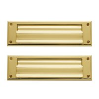 Baldwin Hardware - Lifetime PVD Polished Brass - Magazine Size Mail Slot in Lifetime PVD Polished Brass