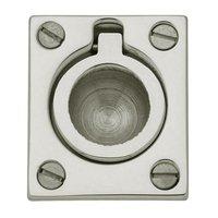 "Baldwin Hardware - Polished Nickel - 1 1/2"" Recessed Ring Pull in Polished Nickel"