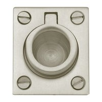"Baldwin Hardware - Satin Nickel - 1 1/2"" Recessed Ring Pull in Satin Nickel"