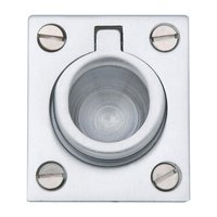 "Baldwin Hardware - Satin Chrome - 1 1/2"" Recessed Ring Pull in Satin Chrome"