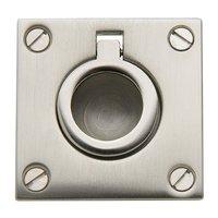 "Baldwin Hardware - Satin Nickel - 1 5/8"" Recessed Ring Pull in Satin Nickel"