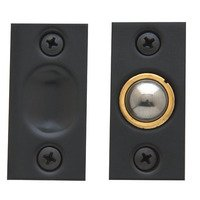 Baldwin Hardware - Satin Black - Adjustable Ball Catch (Fitted in Jamb) in Satin Black