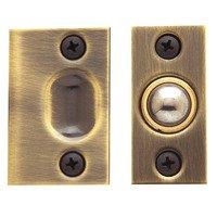 Baldwin Hardware - Satin Brass & Brown - Adjustable Ball Catch (Fitted in Door) in Satin Brass & Brown