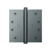 """Baldwin Hardware - Estate Door Accessories - 4"""" x 4"""" Square Corner Door Hinge with Non Removable Pin in Satin Nickel"""