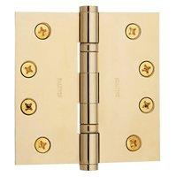 "Baldwin Hardware - Estate Door Accessories - 4"" x 4"" Ball Bearing Square Corner Door Hinge with Non Removable Pin in Satin Nickel"