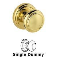 Baldwin Hardware - Prestige - Single Dummy Alcott Door Knob in Polished Brass