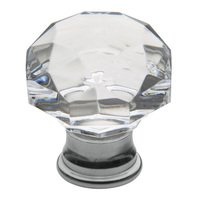 "Baldwin Hardware - Crystal - 1 3/8"" Diameter Mushroom Crystal Knob in Polished Chrome"