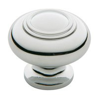 "Baldwin Hardware - Polished Chrome - 1 1/4"" Diameter Ring Deco Knob in Polished Chrome"
