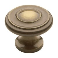 "Baldwin Hardware - Satin Brass & Black - 1 1/4"" Diameter Dominion Knob in Satin Brass & Black"