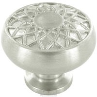 """Baldwin Hardware - Couture A - 1 1/4"""" Diameter Couture A Knob in Satin Nickel"""