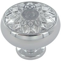"""Baldwin Hardware - Couture A - 1 1/4"""" Diameter Couture A Knob in Polished Chrome"""