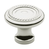"Baldwin Hardware - Polished Nickel - 1 1/4"" Diameter Rope Knob in Polished Nickel"