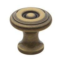 "Baldwin Hardware - Satin Brass & Black - 1"" Diameter Colonial Knob in Satin Brass & Black"