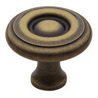 "Baldwin Hardware - Satin Brass & Black - 1 1/2"" Diameter Colonial Knob in Satin Brass & Black"