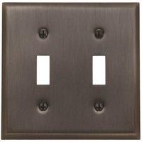 Baldwin Hardware - Switchplates - Double Toggle Beveled Edge Switchplate in Venetian Bronze