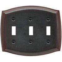 Baldwin Hardware - Switchplates - Triple Toggle Colonial Switchplate in Venetian Bronze
