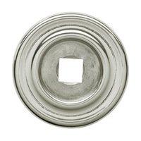 "Baldwin Hardware - Polished Nickel - 1 1/4"" Diameter Plain Knob Backplate in Polished Nickel"
