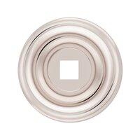 "Baldwin Hardware - Polished Nickel - 1 1/2"" Diameter Plain Knob Backplate in Polished Nickel"