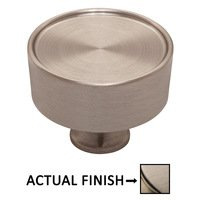 "Baldwin Hardware - Hollywood Hills Cabinet - 1 1/2"" Diameter Cabinet Knob in Lifetime Pvd Satin Nickel"