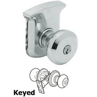 Baldwin Hardware - Tahoe - Keyed Entry Door Knob with Rose in Polished Chrome