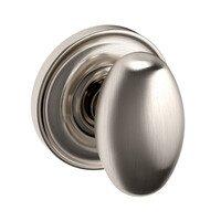 Baldwin Hardware - Egg - Full Dummy Door Knob with Classic Rose in Satin Nickel