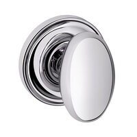 Baldwin Hardware - Egg - Full Dummy Door Knob with Classic Rose in Polished Chrome