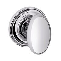 Compare View Details · Baldwin Hardware   Egg   Single Dummy Door Knob With  Classic Rose In Polished Chrome