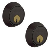 Baldwin Hardware - Contemporary - Double Cylinder Deadbolt in Distressed Oil Rubbed Bronze