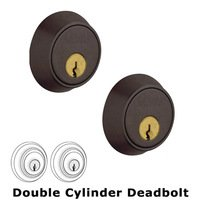 Baldwin Hardware - Contemporary - Double Cylinder Deadbolt in Distressed Venetian Bronze