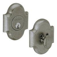 Baldwin Hardware - Arched - Single Cylinder Deadbolt in Distressed Antique Nickel