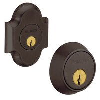 Baldwin Hardware - Arched - Double Cylinder Deadbolt in Venetian Bronze