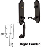 Baldwin Hardware - Manchester - Escutcheon Right Handed Single Cylinder Handleset with Wave Lever in Oil Rubbed Bronze