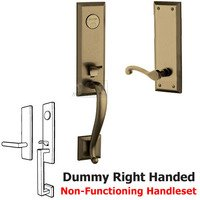 Baldwin Hardware - Stonegate - Escutcheon Right Handed Full Dummy Handleset with Classic Lever in Satin Brass & Black