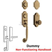 Baldwin Hardware - Ashton - Two Point Full Dummy Handleset with Colonial Knob in Satin Brass & Black