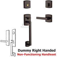 Baldwin Hardware - Soho - Sectional Right Handed Full Dummy Handleset with Lever in Venetian Bronze