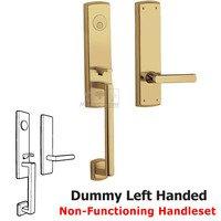 Baldwin Hardware - Soho - Escutcheon Left Handed Full Dummy Handleset with Lever in NonLacquered Brass