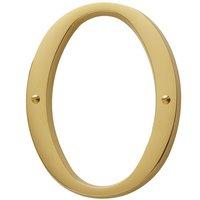 Baldwin Hardware - Lifetime PVD Polished Brass - #0 House Number in Lifetime PVD Polished Brass