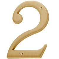 Baldwin Hardware - Satin Brass - #2 House Number in PVD Lifetime Satin Brass