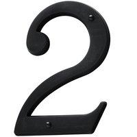 Baldwin Hardware - Satin Black - #2 House Number in Satin Black